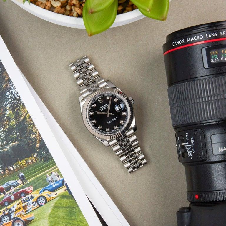 Rolex Datejust 41 126334 Men's Stainless Steel Diamond Watch For Sale 5
