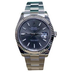 Rolex Datejust 41 126334 Rhodium Dial Stainless Steel Box Papers