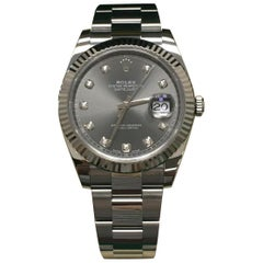Rolex Datejust 41 126334 Rhodium Diamond Dial Stainless Steel 18K Box Paper 2018