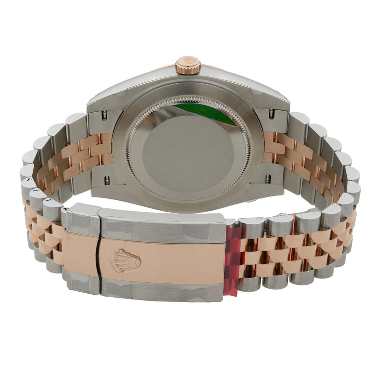 Rolex Datejust 41 18K Rose Gold Steel Pink Dial Automatic Men's Watch 126301 For Sale 3