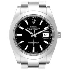 Rolex Datejust 41 Black Dial Oyster Bracelet Men's Watch 126300 Unworn