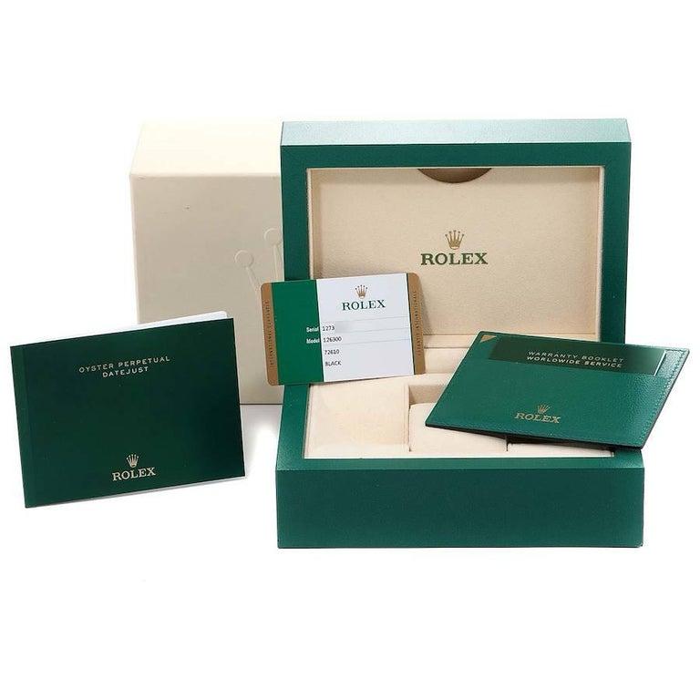 Rolex Datejust 41 Black Dial Steel Men's Watch 126300 Box Card 8