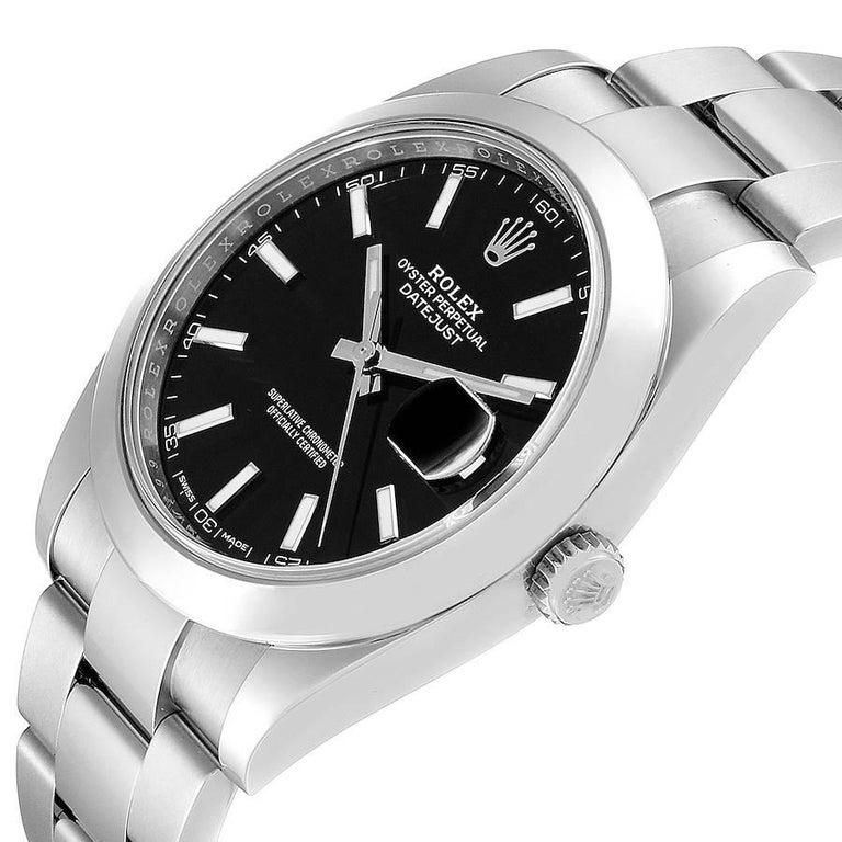 Rolex Datejust 41 Black Dial Steel Men's Watch 126300 Box Card 2