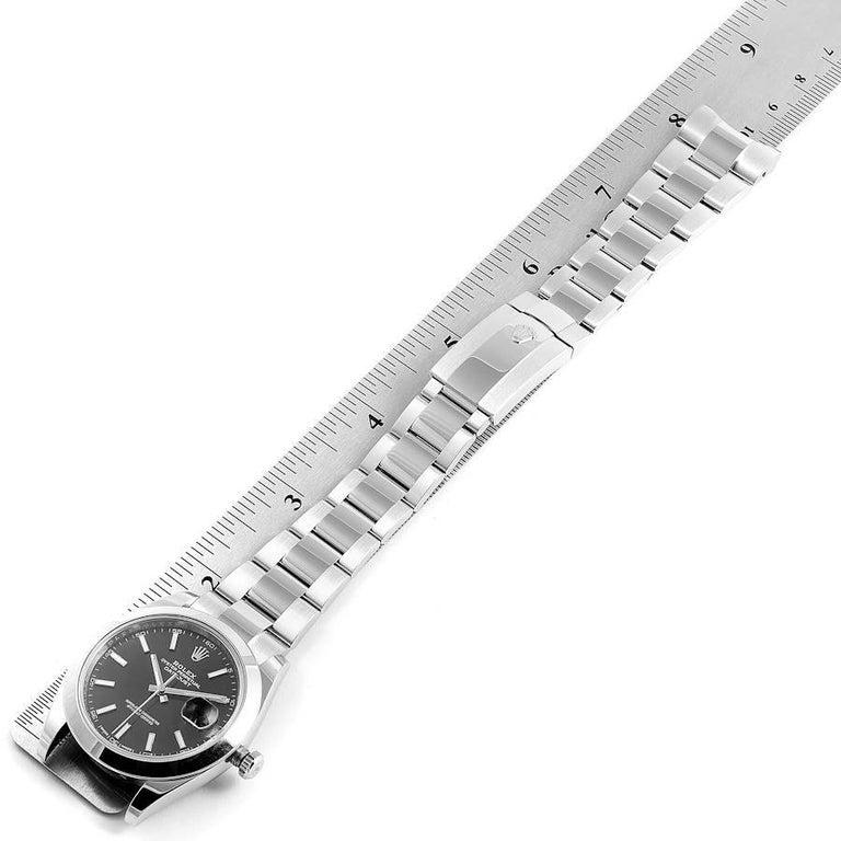 Rolex Datejust 41 Black Dial Steel Men's Watch 126300 Box Card 6