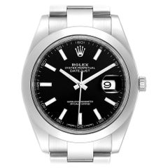 Rolex Datejust 41 Black Dial Steel Men's Watch 126300 Box Card
