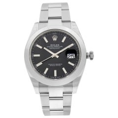 Rolex Datejust 41 Black Sticks Dial Stainless Steel Automatic Men's Watch 126300