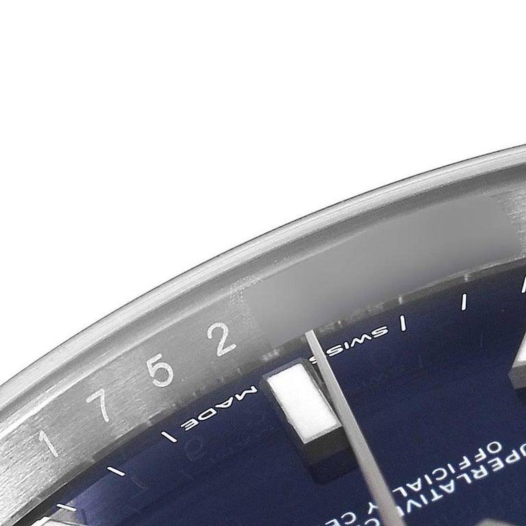 Rolex Datejust 41 Blue Dial Jubilee Bracelet Steel Men's Watch 126300 Box Card For Sale 3