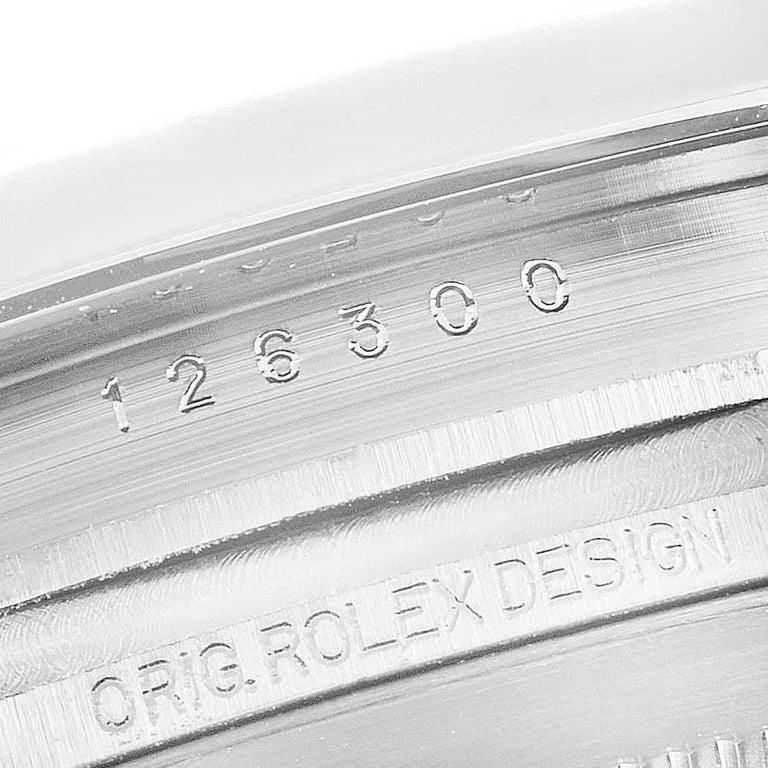 Rolex Datejust 41 Blue Dial Jubilee Bracelet Steel Men's Watch 126300 Box Card For Sale 4