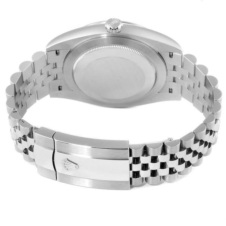 Rolex Datejust 41 Blue Dial Jubilee Bracelet Steel Men's Watch 126300 Box Card For Sale 6