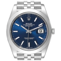 Rolex Datejust 41 Blue Dial Jubilee Bracelet Steel Men's Watch 126300
