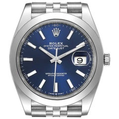 Rolex Datejust 41 Blue Dial Jubilee Bracelet Steel Men's Watch 126300 Unworn