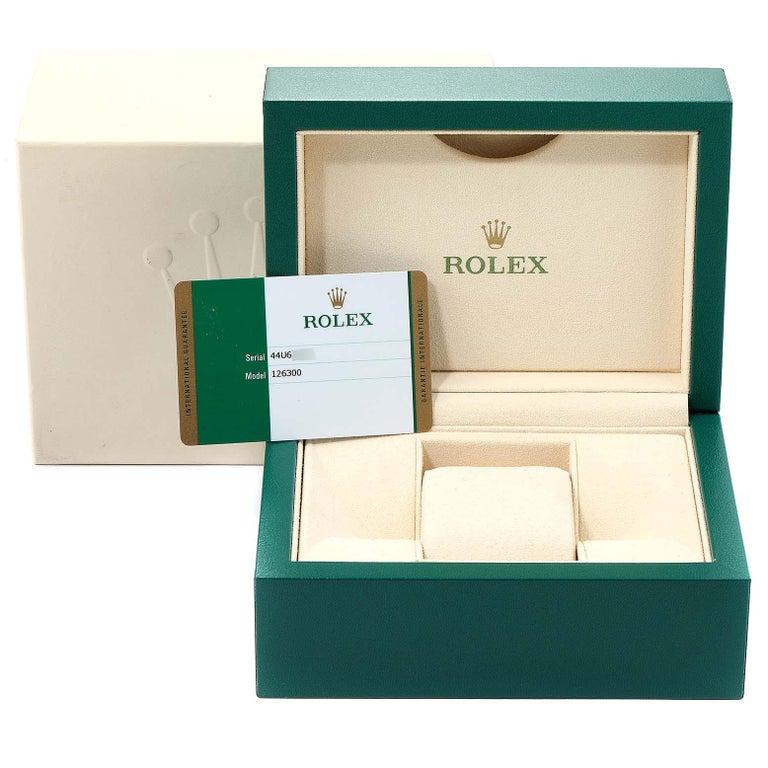 Rolex Datejust 41 Blue Dial Steel Men's Watch 126300 Box Card For Sale 9