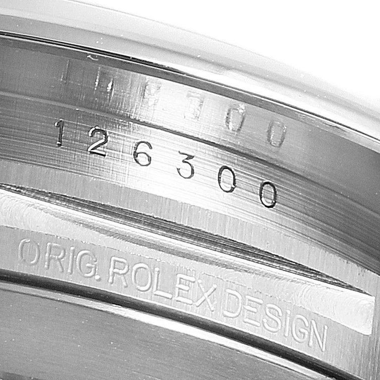 Rolex Datejust 41 Blue Dial Steel Men's Watch 126300 Box Card For Sale 4