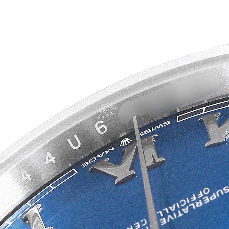 Rolex Datejust 41 Blue Dial Steel Men's Watch 126300 Box Card For Sale 5