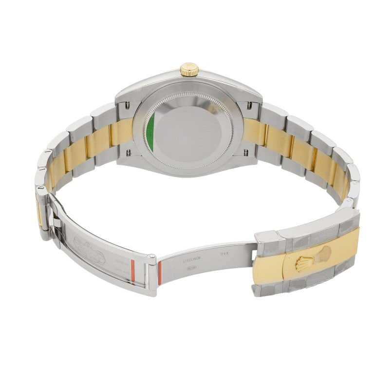 Rolex Datejust 41 Gold Steel White Stick Dial Automatic Men's Watch 126333 For Sale 2