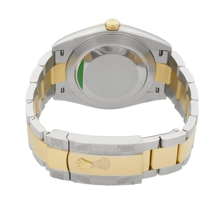 Rolex Datejust 41 Gold Steel White Stick Dial Automatic Men's Watch 126333 For Sale 3