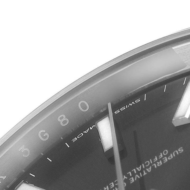 Rolex Datejust 41 Grey Dial Domed Bezel Steel Men's Watch 126300 Unworn For Sale 3