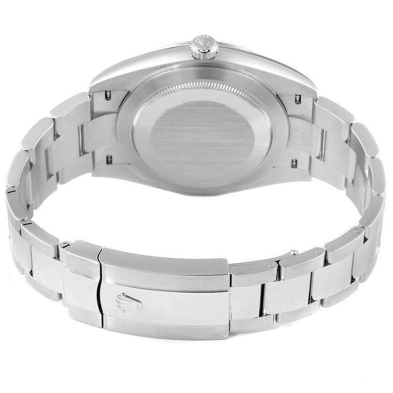 Rolex Datejust 41 Grey Dial Domed Bezel Steel Men's Watch 126300 Unworn For Sale 4