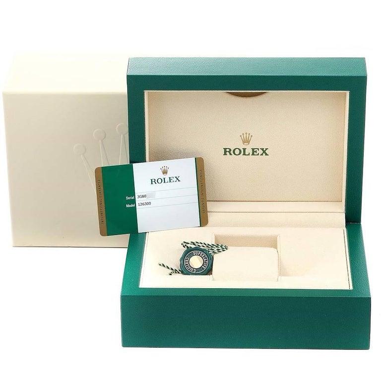Rolex Datejust 41 Grey Dial Domed Bezel Steel Men's Watch 126300 Unworn For Sale 6