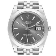 Rolex Datejust 41 Grey Dial Jubilee Bracelet Men's Watch 126300 Unworn
