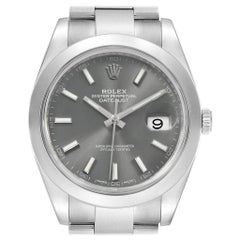 Rolex Datejust 41 Grey Dial Steel Men's Watch 126300 Box Card