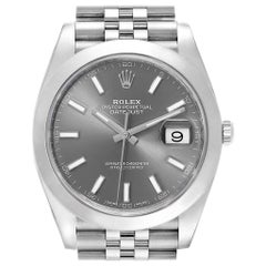 Rolex Datejust 41 Jubilee Bracelet Steel Men's Watch 126300 Box Card