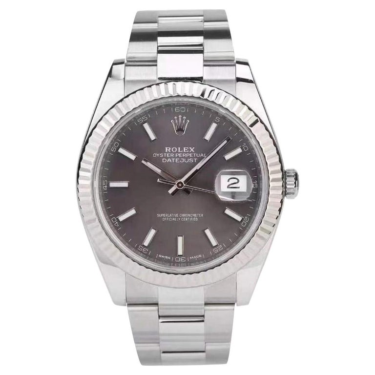 Rolex Datejust 41 Oyster Steel Men's Watch 126334-0013 For Sale