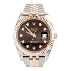 Rolex Datejust 41 Rose Gold Stainless Steel '126331'