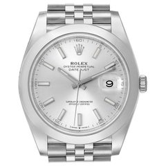 Rolex Datejust 41 Silver Dial Jubilee Bracelet Men's Watch 126300 Unworn