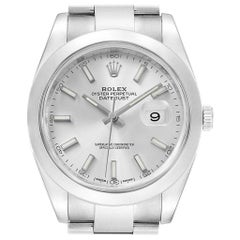 Rolex Datejust 41 Silver Dial Steel Men's Watch 126300 Box Card
