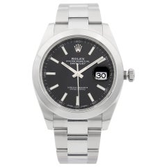 Rolex Datejust 41 Stainless Steel Black Index Dial Automatic Men's Watch 126300