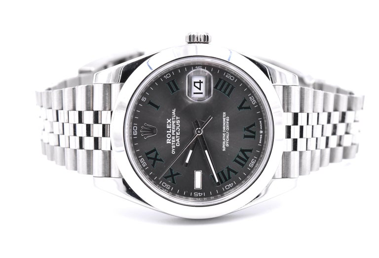 Rolex Datejust 41 Stainless Steel Fluted Bezel Watch Ref. 126300 In Excellent Condition For Sale In Scottsdale, AZ