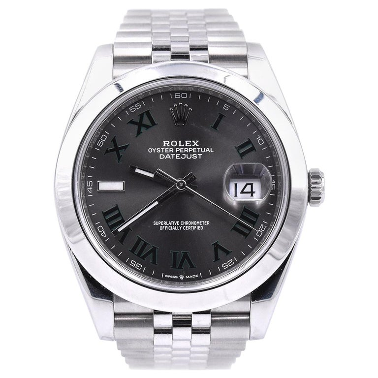 Rolex Datejust 41 Stainless Steel Fluted Bezel Watch Ref. 126300 For Sale