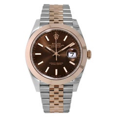 Rolex Datejust 41 Stainless-Steel Rose Gold Smooth Bezel Watch 126301
