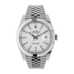 Rolex Datejust 41 Stainless Steel White Index Dial Jubilee Watch 126300