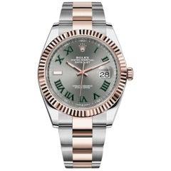 Rolex Datejust 41 Steel 18 Karat Gold Wimbledon Roman Dial Men's Watch 126331