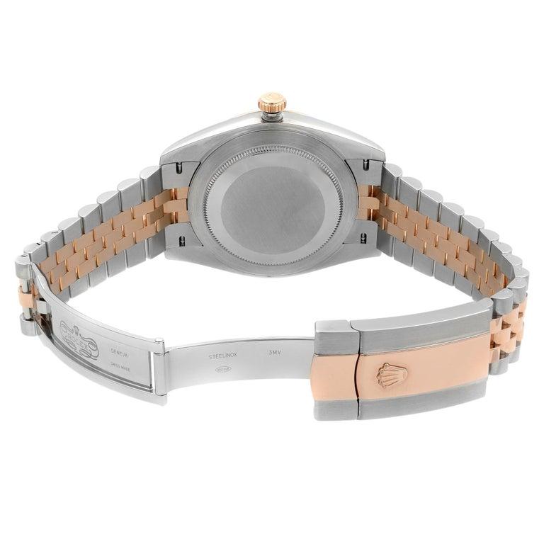 Rolex Datejust 41 Steel 18K Rose Gold Chocolate Diamond Dial Men's Watch 126331 For Sale 1