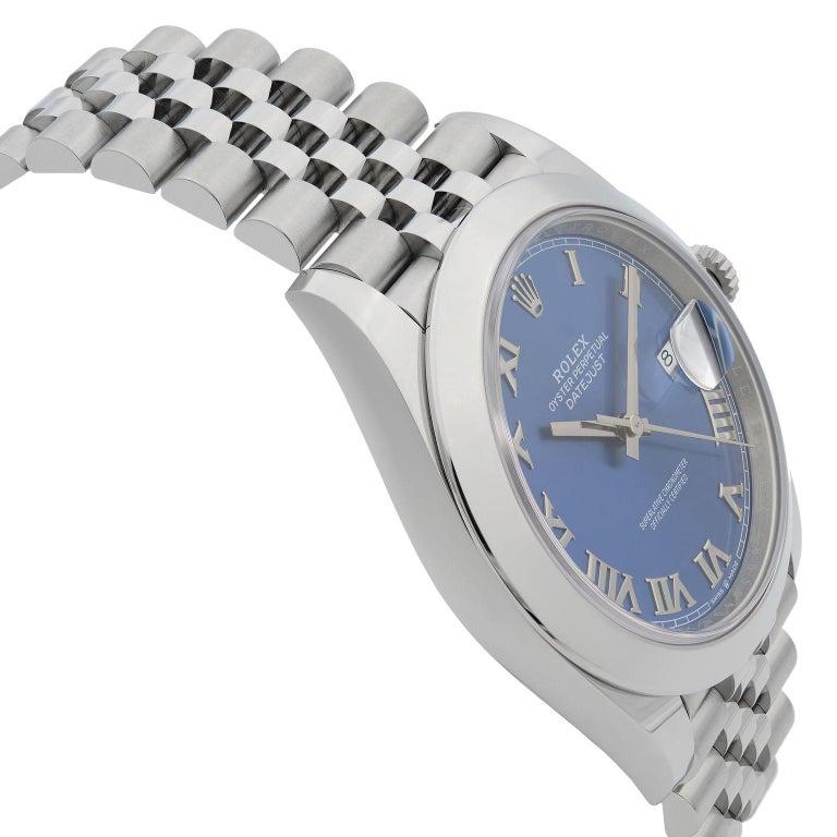 Rolex Datejust 41 Steel Blue Roman Dial Jubilee Automatic Men's Watch 126300 For Sale 1