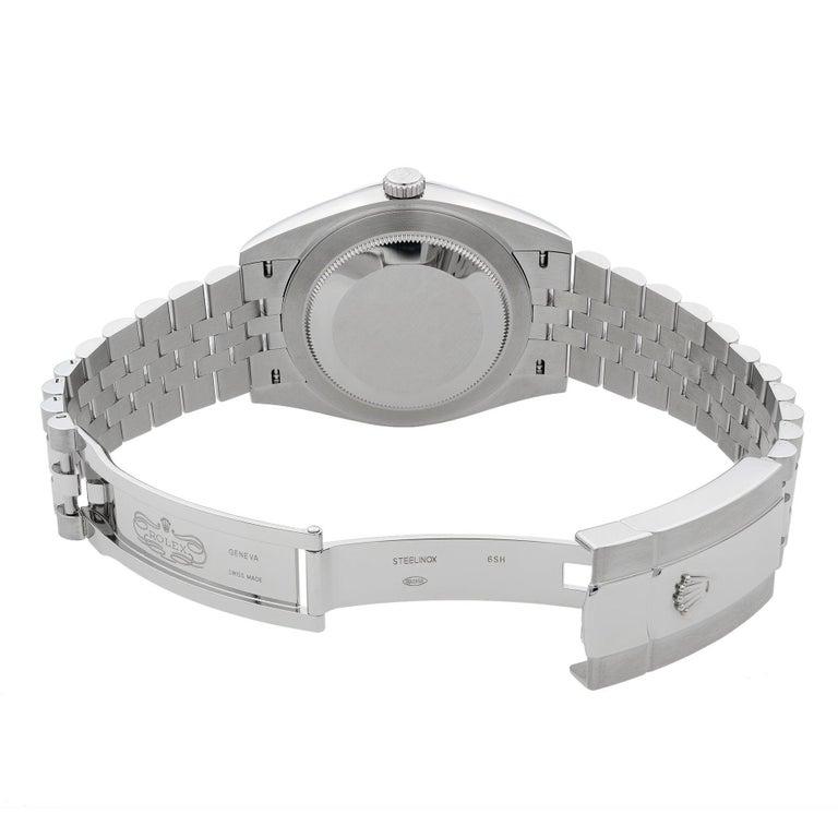 Rolex Datejust 41 Steel Blue Roman Dial Jubilee Automatic Men's Watch 126300 For Sale 2