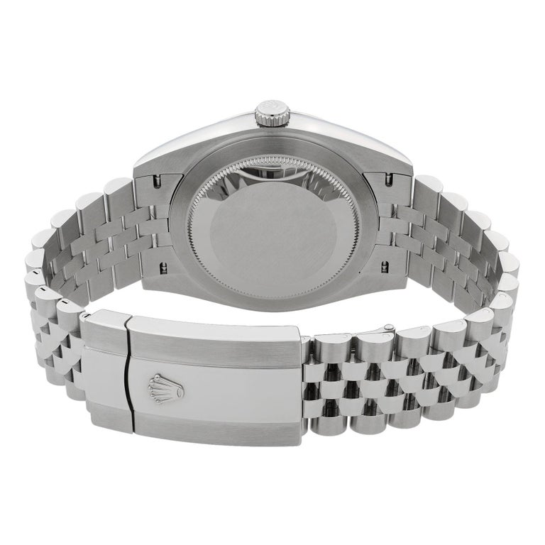 Rolex Datejust 41 Steel Blue Roman Dial Jubilee Automatic Men's Watch 126300 For Sale 3