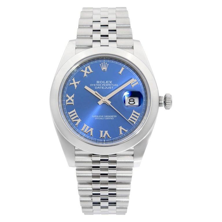 Rolex Datejust 41 Steel Blue Roman Dial Jubilee Automatic Men's Watch 126300 For Sale