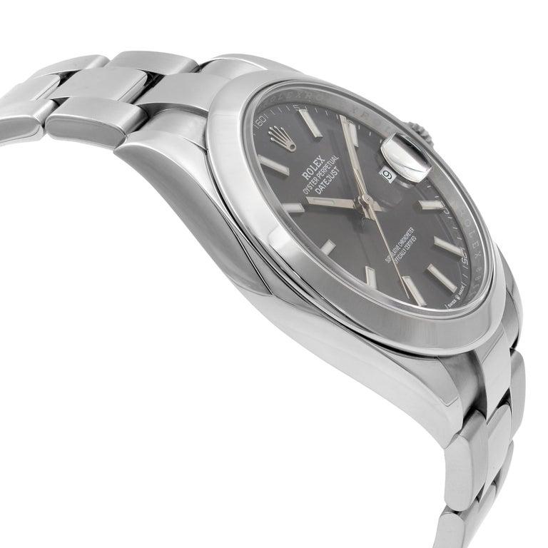 Rolex Datejust 41 Steel Dark Rhodium Dial Automatic Men's Watch 126300 For Sale 1
