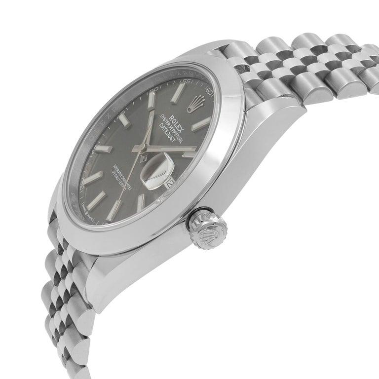 Rolex Datejust 41 Steel Dark Rhodium Dial Jubilee Men's Watch 126300 1