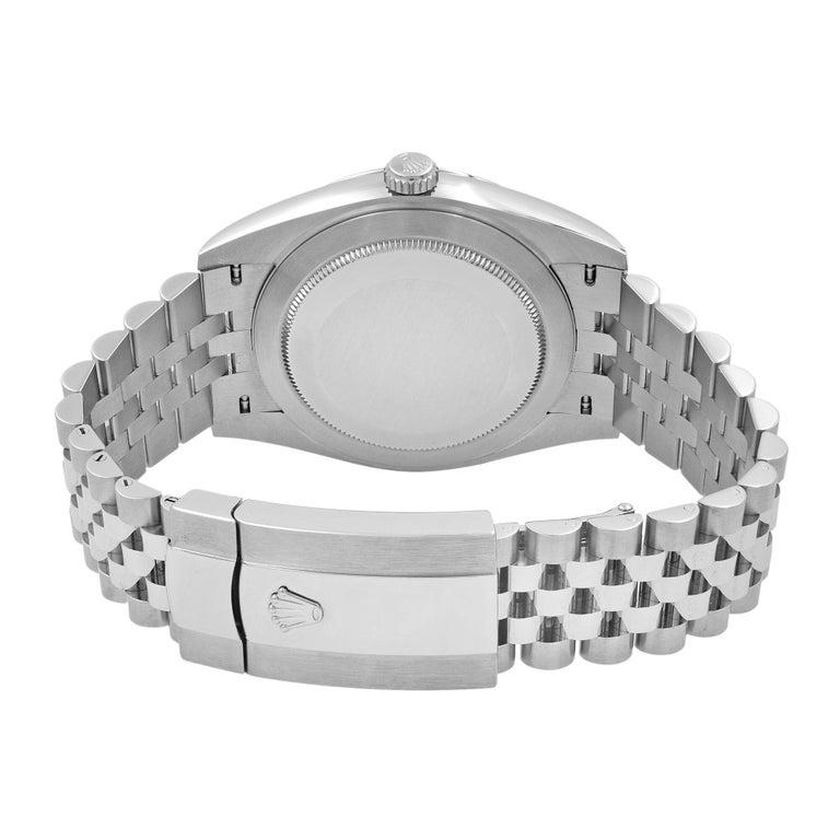 Rolex Datejust 41 Steel Dark Rhodium Dial Jubilee Men's Watch 126300 2