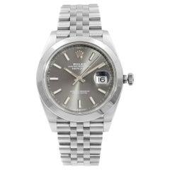 Rolex Datejust 41 Steel Jubilee Band Rhodium Dial Automatic Mens Watch 126300RSJ