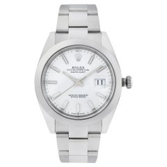 Rolex Datejust 41 Steel Oyster Band White Dial Automatic Men's Watch 126300