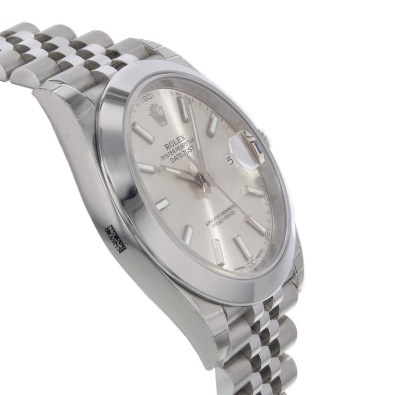 Rolex Datejust 41 Steel Silver Index Dial Automatic Men's Watch 126300 sij 1