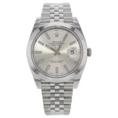 Rolex Datejust 41 Steel Silver Index Dial Automatic Men's Watch 126300 sij