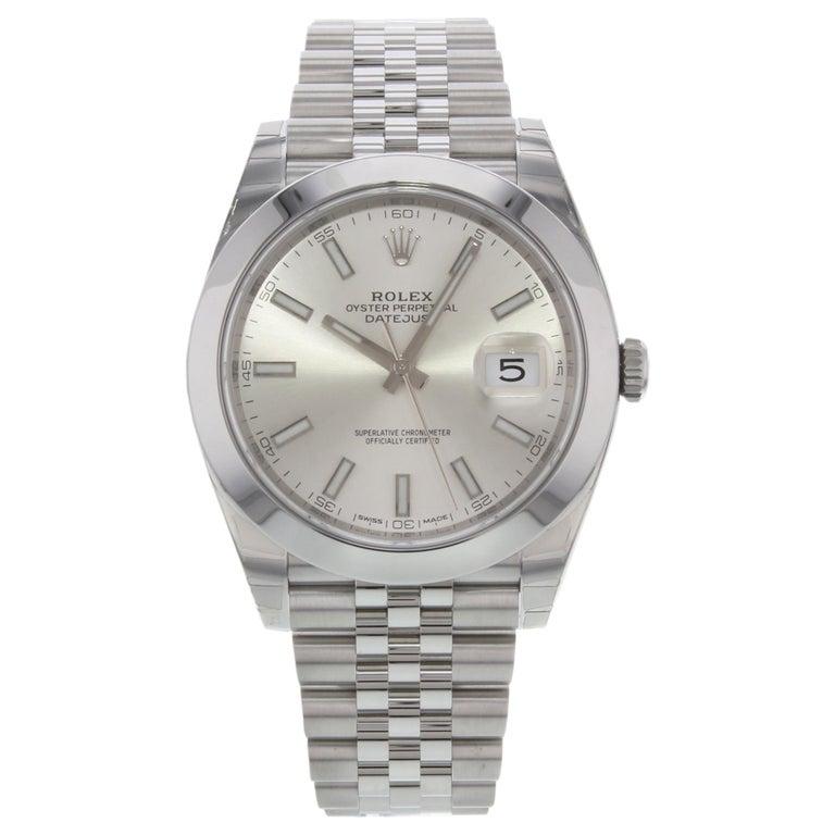 Rolex Datejust 41 Steel Silver Index Dial Automatic Men's Watch 126300 sij