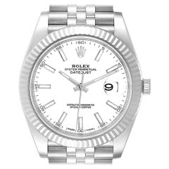 Rolex Datejust 41 Steel White Gold Jubilee Bracelet Men's Watch 126334